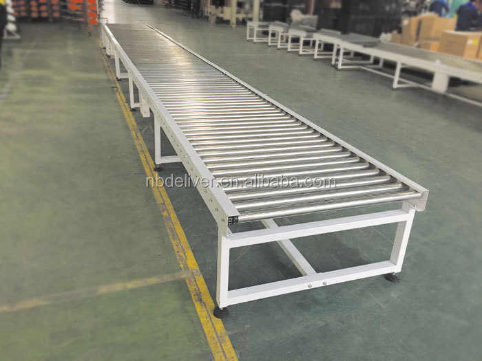 Motorized Steel Plastic Stainless Steel Roller Conveyor