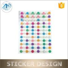 Custom high-grade flower acrylic gem/diamond/rhinestone sticker
