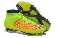 2014 huiwang factory new design Breatheable Light Soccer Boots High Ankle Magista warm Football shoes for winter