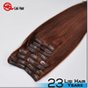 2015 Fashion Factory Wholesale Price Double Weft pu skin weft clip in hair extension