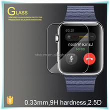 For apple watch 38mm 42mm tempered glass film.Tempered glass screen protector for apple watch screen film