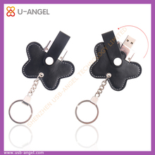 innovative business gifts bulk 2gb usb flash drives,butterfly shape leather usb flash disk