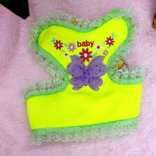 sofe mesh dog harness/butterfly and flower dog harness