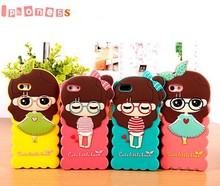Color optional cute girl for iphone5 case, wholesale phone cases for iphone 5