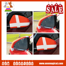 Hot sale racing Car flags printing rear view mirror cover