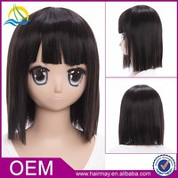 Top quality factory heat resistant cosplay for Durarara!! Sonohara Anri lion wig