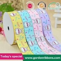 2015 new design 5/8 grosgrain ribbon printing cute rabbit ribbon for kids Diy