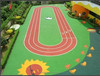 Colorful Rubber Basketball Courts Surfacing With Color EPDM Granules