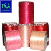 Decoration satin fabric for silk ribbon on Christmas Day