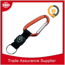 Alibaba Gold Supplier Durable Aluminum carabiner strap and split ring