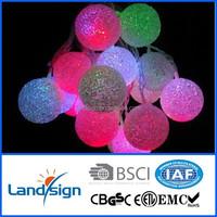Zhejiang product solar christmas ball light Cixi Landsign XLTD-137 string light decorative led unique outdoor christmas lights