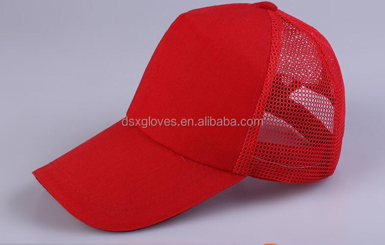 Wholesale Mesh Red Baseball Cap Custom Trucker Hats Blank ...