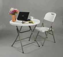 New cheap small plastic round folding table and chairs for banquet