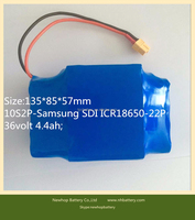 High quality lithium ion battery 36v 4.4ah for Electric Scooters