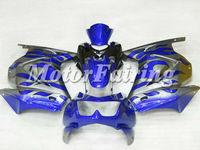 for kawasaki ex250 2008-2009 ninja ex250 250r 250 ninja motorcycle 08-09 silver blue flames