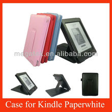 FStand flip leather case for kindle paperwhite ,for kindle paperwhite case cover