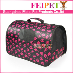 Good Quality Paw Print New Design Foldable Cute Pet Travel Bags Carriers