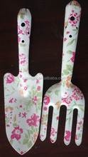 Popular floral printing kids hand gardening tools made in china