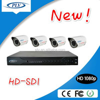 4 channel waterproof bullet night vision 1080p full hd cctv camera system