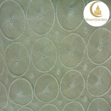 china high quality embroidered sheer fabrics circle pattern for clothing