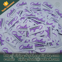 China Factory Brand Name Clothing Labels Woven Main Label