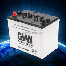 brand GW rechargeable 12v 60ah dry battery automotive battery car battery