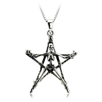 Wholesale Christmas Gift Men Jewelry AAA 100% Silver 925 Pendant Necklace Thai Silver Classic Skeleton Necklaces & Pendants
