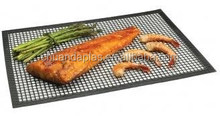 Non stick mesh grill with square holes, heat resistant non-stick healthy cooking mat, barbecue grill mat mesh