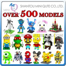 Mini Qute Over 500 styles loz diamond 3d construction toys plastic building blocks toys educational toys for boy kids