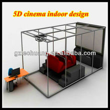 5D Cinema Simulator for 12 persons with blue color chairs