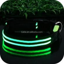 100% Webbing Nylon Electronic Sport Dog LED Dog Collar Wholesale