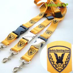 Silicone logo polyester straps, sublimation logo polyester neck lanyards led lanyard