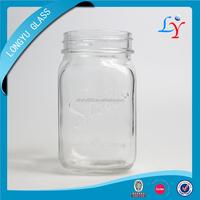 500ml Stoli glass jar with handle 16oz mason glass food jar with lid square glass jar with tap