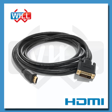 1.5m High Speed DVI (24+1) Male to HDMI Male Cable