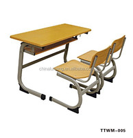 Excellent double student desk and chair for school and classroom