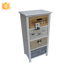 French Shabby Chic Rustic Wooden Key Cabinet Furniture