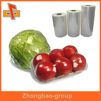 Made in China soft PVC shrink plastic film for Vegetables and fruits packing