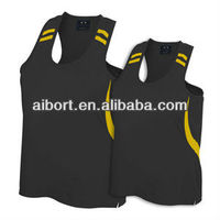 Unisex polyester dry fit sports singlets,vest,tank top 2013 in Xiamen.polyester vest