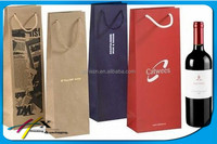 factory price customized popular wine bottle paper bag