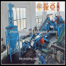 Used for Recycling Waste Tyre Shredder Plant / Waste Tire Recycling Rubber Powder Machine