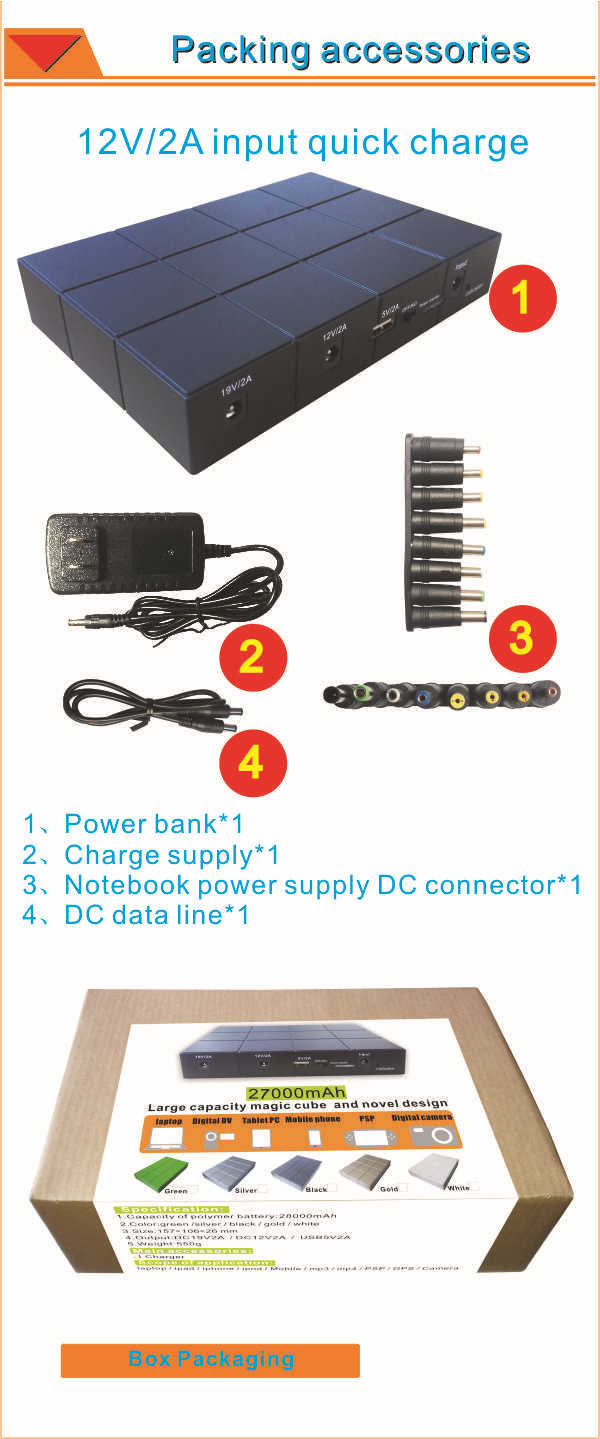 Factory Price!High Quality Powers Banks Wholesale ,Universal Laptop Power Bank, Big Capacity Portable Power Bank