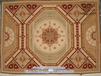 customized handmade flat weave aubusson style european flower wool rug