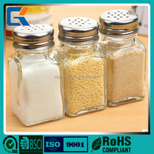 Cheap price for small transparent glass spices kitchen canister sets for salt