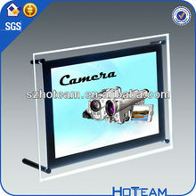 LED wall mounted acrylic double sided poster frame wholesale