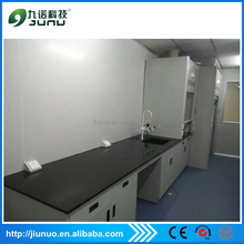 3 years warranty period lab furniture solid wood plate lab work bench for instrument