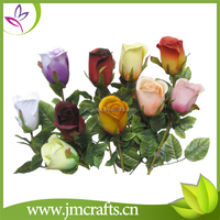 Single stem wedding decorative pink artificial silk rose flower