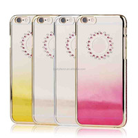 Shine sky ultra thin diamond cell phone case for iPhone 5S with Gradient color