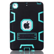fashion hybrid rubber horizontal stand silicon phone case for ipad mini