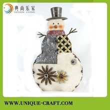 Metal winter snowman decoration,christmas snowman ornament