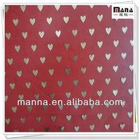 Gold glitter heart foiled 100 polyester mesh fabrics for kids